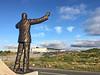Looking down (jhnolan) Tags: ireland mayo airport statue