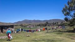 Semonkong village (Hans van der Boom) Tags: holiday vacation southafrica lesotho zuidafrika semonkong maseru village washing clothes line people lso