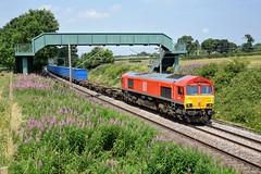 66019 6E26 Acton Bridge (cmc_1987) Tags: 66019 db dbcargo ews class66 jt42cwr actonbridge wcml binliner knowsley wilton cheshire delamereway diesel gm br emd rail locomotive freight