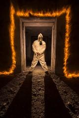 Chemical combat (lightbrothersfotografia) Tags: kevlar firejuggling firepainting fire fuego onlyraw hitech21 sanatoriodecesuras galicia spain coruña lightpainting