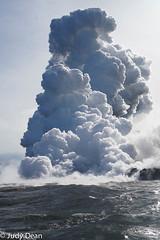 Watching lava flow into the sea 4 (judy dean) Tags: judydean 2017 hawaii bigisland sea ocean lava flow awesome