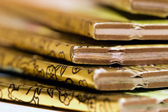 Golden Books (AFracturedCrown) Tags: 52project2017 lightbox books macro closeup