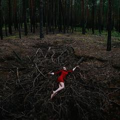the gyre (Maria Nenenko) Tags: idea concept conceptual marinino marininoart fineart art red color forest nature reddress hands melancholy death life emotion dark darkness cinematic film surgut russia conceptphotos