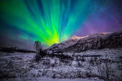 Northern Lights (Valter Patrial) Tags: sky lights snow green norway long exposure land north northern aurora borealis arctic noruega