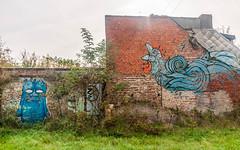 Doel Village fantôme Belgique Novembre 2016 (Dubus Laurent) Tags: village belgique doelvillagefantôme doel anvers home house maison building tags graffiti art artiste abondoned abondonner street streetart villi vilage dark darken dead nature urbex urban urbain urbanexploration rue urbaine voiture car statue hangar
