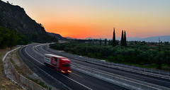 Express Delivery (free3yourmind) Tags: exporess delivery transport transportation system road highway expressway sunset greece peloponnese fast speed car truck