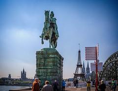 Equestrian Statue of Kaiser Wilhelm I (mary_hulett) Tags: cologne 2017 statue travel viking equestrianstatueofkaiserwilhelmi rhineriver europe minieiffeltower rivercruise