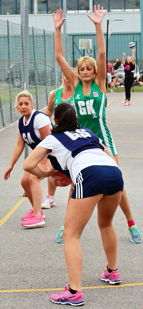 Hot netball girls in action