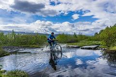 DSC02059 (nordanheidar) Tags: iceland fnjoskadalur vaglaskogur bike bicycle mtb river creek vater sky clouds outdoors splash water