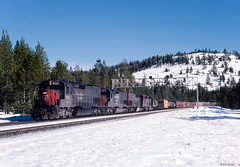 SP 9212 West at Soda Springs, CA (thechief500) Tags: donnerpass railroads sp southernpacific espee california