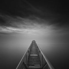 The path is made by walking (João Cruz Santos) Tags: seascape waterscape pier blackandwhite bw longexposure fotodiox wonderpana nd1000 10stops alhandra portugal