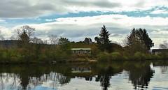 Inchmurrin Island in Loch Lomond (Eddie Crutchley) Tags: europe uk scotland outdoor loch nature cloudysky lochlomond island lake water reflections ruins inchmurrinisland simplysuperb greatphotographers