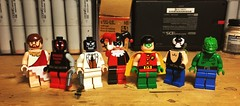Further Vintage Stylings (LordAllo) Tags: lego dc batman vintage classic smiley faces maxie zeus kgbeast black mask harley quinn robin bane killer croc