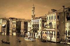 Canaletto (alice 240) Tags: venezia europa city italia europe italy venice veneto urban vintage retro flickr nikon travel dream tourism magic film poetry architecture alice240 atelier240art alicealicjacieliczka sepia nationalgeographic ngc cinema monochrome canaletto