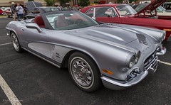 Retro 1962 Corvette (Kool Cats Photography over 12 Million Views) Tags: corvette silver convertible custom 1962