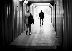Tunnel. Vancouver, 2017. (Philip Hall Photography) Tags: bwfp vancouver yvr ghosts olympusom1 filmisnotdead bw monochrome ilford zuiko 50mm14