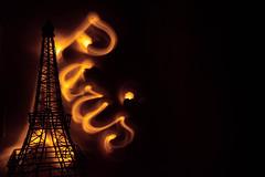 Paris by Night (chantalliekens) Tags: dogwood2017week26 lightpainting technical dogwood2017 dogwood52 light nikon nikond810 indoor 24mm paris eiffeltower setup orange stillife
