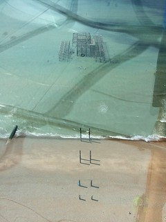 Brighton's West Pier from BA i360