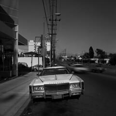 Eldorado (Julio López Saguar) Tags: juliolópezsaguar coche car automóvil blancoynegro blackandwhite película film losángeles california usa eeuu etadosunidosunitedstates calle street urbanurbano eldorado blanco white