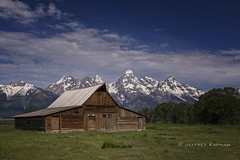 broke down palace... (J. Kaphan Studios) Tags: grandtetonnationalpark grandtetons oldbarns mountains bigmountains jacksonhole wyoming landscape landscapephotography publicland mypubliclands clouds cloudporn bluesky blue green travel travelphotography letsgosomewhere wanderlust