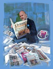 Gert Ysebaert in VIllamedia Magazine (Maria Emanuela) Tags: dolfrogmans gertysebaert telegraaf nrc maaikeputmanillustrator jonasroosensfotograafanp mediahuis