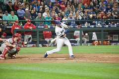 Mike Zunino swing (hj_west) Tags: baseball philadelphiaphillies seattlemariners safecofield mlb interleague stadium night sports