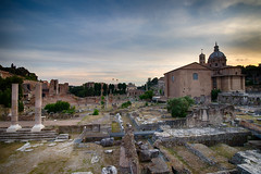Rome: Roman Forum at Sunset