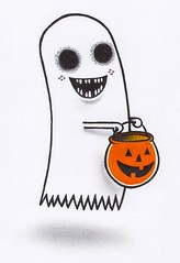 """Trick or a Treat Ghost"" (the ghost in you) Tags: trickortreat ghost halloween pumpkin horror jackolantern timburton"