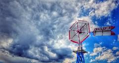 weathering the storm.... (HWW) (BillsExplorations) Tags: windmill windmillwednesday waterpump old vintage farm rural hannibal storm sky clouds eclipse rust