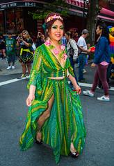 QueensGayPrideParade2017-7 (bigbuddy1988) Tags: people portrait photography wow art nyc usa city flash strobe ab600 nikon d800 digital gay parade festival green dress costume newyork trans gayparade gayprideparade