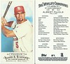 2009 Topps Allen & Ginter's Mini EXT Rip Baseball Card - ALBERT PUJOLS (First Base) St. Louis Cardinals (#361) (Treasures from the Past) Tags: 2009allenginters 2009toppsallenginters baseballcard minibaseballcard topps parallelcard miniparallelcard nonumber nocardnumber mini allenginter albertpujols stlouiscardinals firstbase