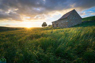 Wetton Barn Sunset - Peak District Photography