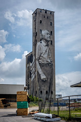 Standing Tall - 15 Stories Tall... (Mr. Pick) Tags: nashville nations tn tennessee elevator grain mural lee estes west renewal guido van helten