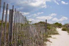 Beach Fence (ertolima) Tags: landscape beach fence sand dune northcarolina fortmacon hff fencedfriday