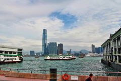 Star Ferries (Albert Jafar) Tags: starferries kowloonpublicpier hongkong publictrasnportation ferries bluesky cloud photographerswharf worldtrekker ferry