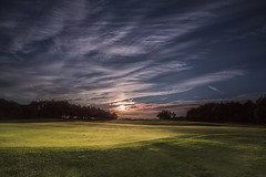 Golf (Karl Ruston) Tags: landscape eveningphotography sunset clouds sky yorkshire golf green grass trees outdoor