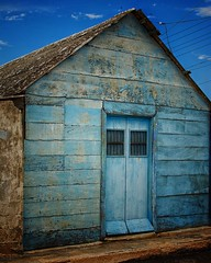 Your blue room (Mister Blur) Tags: your blue room san felipe wooden house yucatán méxico textures nikon d7100 35mm snapseed