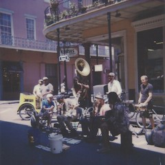 Royal Street Musicians (dreamscapesxx) Tags: instant polaroid theimpossibleproject polaroid600businessedition impossible600colorfilm musicians streetmusicians onthestreet streetperformers rueroyal roadtrip neworleansla snapitseeit