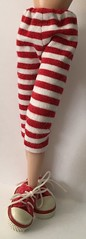 Red And White Striped Capri Pants...For Blythe...