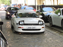 Toyota Celica GTi-16 J416GHT (Andrew 2.8i) Tags: queen queens square bristol breakfast club car cars classic classics show meet transport youngtimer oldtimer gt japanese sports sportscar coupe hot hatch hatchback worldcars celica toyota t180 uk unitedkingdom