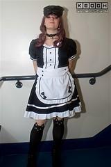 IMG_6946 (Neil Keogh Photography) Tags: apron black blouse cosplay cosplayer dokidokifestivalmanchester2016 dress female frenchmaid gloves highheels japanesemaid maidcafe mask skirt stocking sweetlolita tights white
