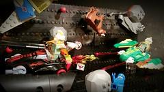 Meteor shower showdown ;) (2nd Life Bricks) Tags: lego space moc meteorites rocketman