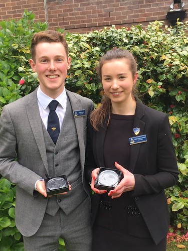 Luke and Charlotte Head boy and Head Girl