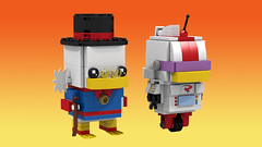 Scrooge and Gizmoduck (Oky - Space Ranger) Tags: lego brickheadz disney afternoon cartoon toon darkwing duck tales uncle scrooge mcduck gizmoduck