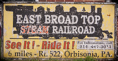 East Broad Top, SEE IT! (trainmann1) Tags: nikon d90 digital amateur handheld summer june 2017 train trains rail railroad historic antique relic rusty crusty rust crust abandoned neglected eastbroadtop eastbroadtoprailroad ebt orbisonia pa pennsylvania huntingdoncounty rockhill rockhillfurnace heritage sign signage yellow black white red route522