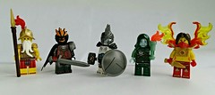 More Fantasy Figbarf! (slight.of.brick) Tags: fantasy lego figbarf minifig city watch living flame cold one keeper sorrows valkrie