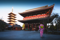 Japanese woman walking to pagoda, Tokyo Japan (Krunja) Tags: ancient architecture asakusa asia asian attractive background beautiful beauty building city clothing costume culture dress fashion female geisha gion girl history holiday japan japanese kanazawa kimono kiyomizu kyoto lady nature old osaka pagoda people person portrait red religion shrine street temple tokyo tradition traditional travel vintage walking woman women wood young taitōku tōkyōto jp