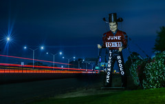 livermore rodeo june 10th & 11th (pbo31) Tags: eastbay alamedacounty night black dark bayarea california nikon d810 color june 2017 spring boury pbo31 lightstream traffic livermore rodeo giant cowboy 11 10 580 highway motion blue red tex roadway bluehour