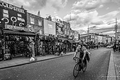 Enjoy Your Ride (Mario Rasso) Tags: mariorasso nikond800 london camden camdentown camdenlock blackandwhite bw blancoynegro blackwhite londres bicycle street streetphotography man