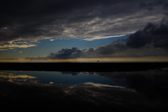Another sunset (dietcokenator) Tags: x100t fuji beach ainsdale colour contrast clouds water